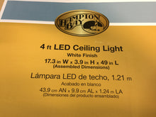 Load image into Gallery viewer, Hampton Bay 4ft x 1.5ft White Rectangular LED Flush Mount Puff Light 54649141