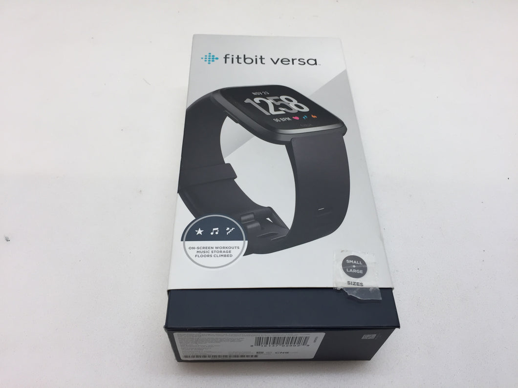 Fitbit FB504GMBK Versa Fitness Watch, Black Aluminum