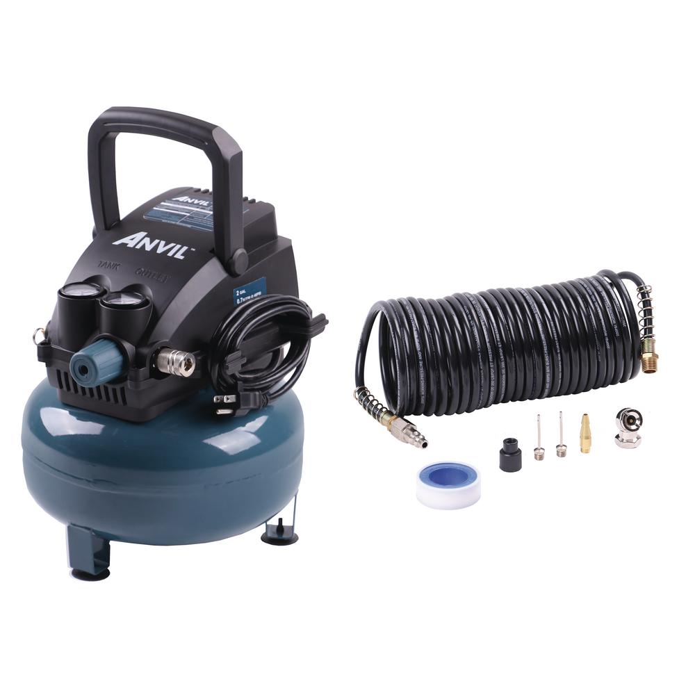 ANVIL 0110247A 2G Pancake Air Compressor with 7-Piece Accessories Kit 1002714647