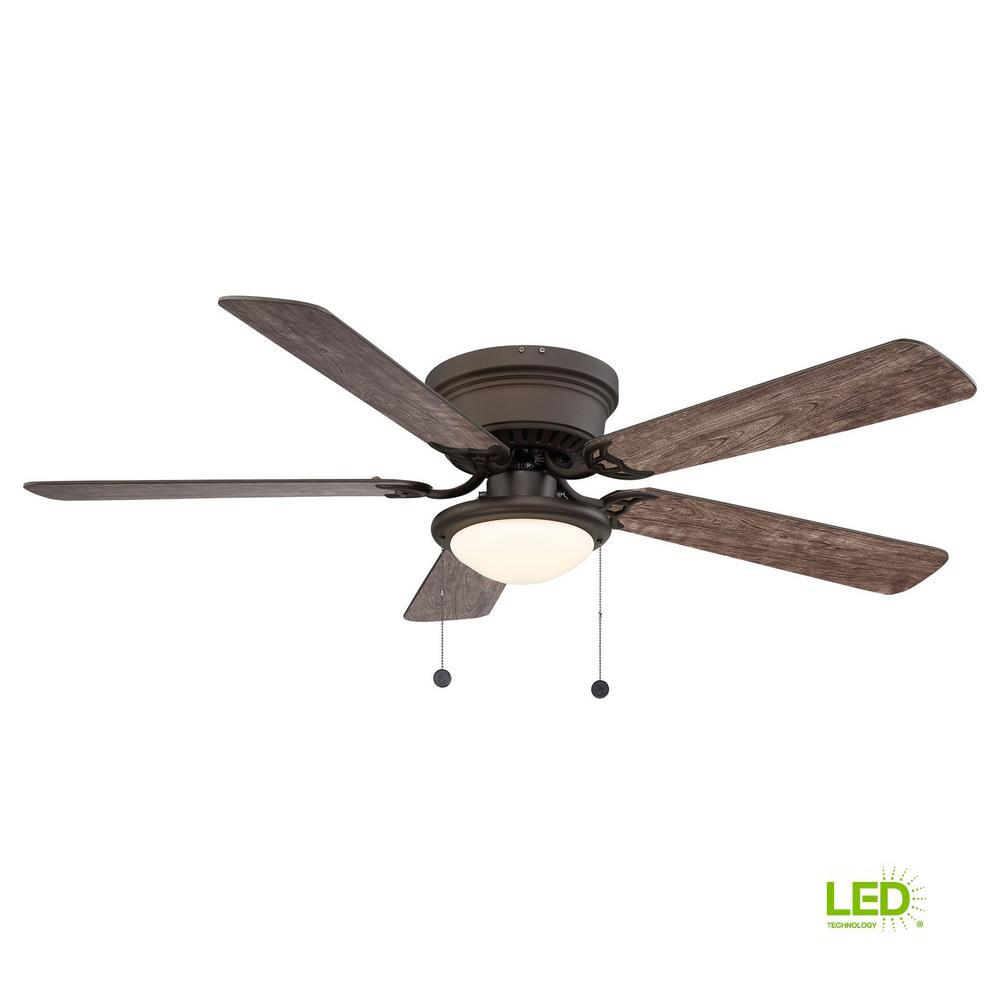 Hugger 52 in. LED Espresso Bronze Ceiling Fan AL383LED-EB 1003023395
