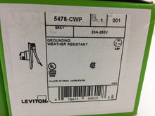 Load image into Gallery viewer, Leviton 20 Amp 250-Volt Straight Blade Grounding Power Inlet Outlet 5478-CWP