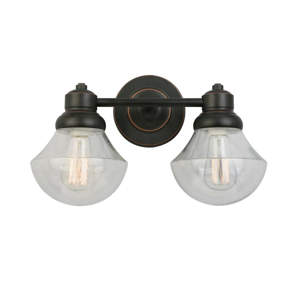 Design House Sawyer 2-Light Oil Rubbed Bronze Sconce 577866