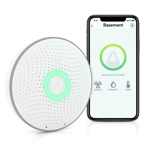 Airthings Wave 2ND Gen Battery Operated Smart Radon Detector 2950