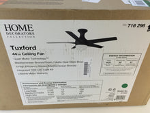 "Load image into Gallery viewer, Home Decorators 51543 Tuxford 44"" LED Mediterranean Bronze Ceiling Fan 716296"