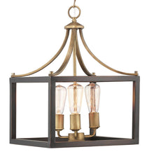 Load image into Gallery viewer, Home Decorators 7948HDCVBDI Boswell Quarter 3-Light Vintage Brass Pendant
