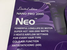 Load image into Gallery viewer, Neo Nano Pro 2000 Ionic Hair Blow Dryer - Super Hot 1800-2000 Watts - Purple