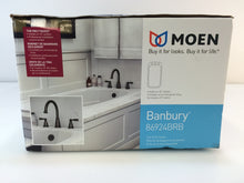 Load image into Gallery viewer, Moen Banbury 86924BRB 2-Handle Deck-Mount Roman Tub Faucet Mediterranean Bronze