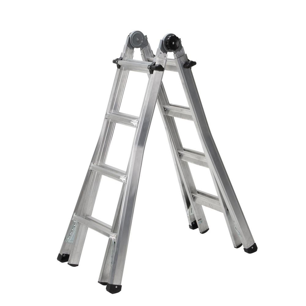 Cosco 20127T1ASE 17 ft Aluminum Telescoping Multi-Position Type 1A Ladder