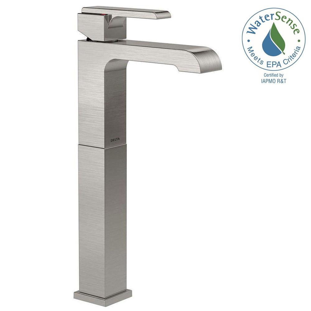 Delta 767LF-SS Ara 1-Hole 1-Handle Vessel Bathroom Faucet, Stainless