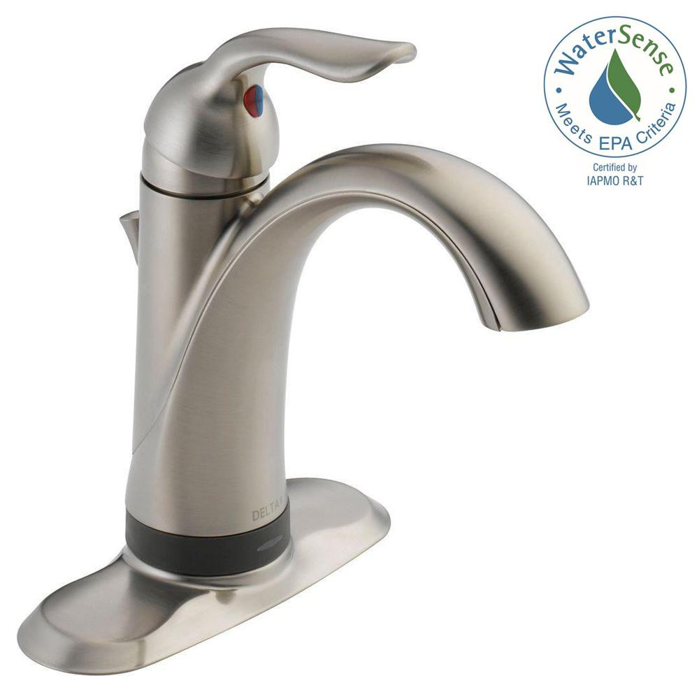 Delta 15938T-SS-DST Lahara Single Hold Single Handle Bathroom Faucet Stainless