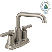 "Load image into Gallery viewer, Delta 25743LF-SP Allentown 4"" Centerset 2-Handle Bath Faucet, Brushed Nickel"