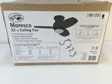 Load image into Gallery viewer, Hampton Bay 14411 Moresco 32 in. Oil Rubbed Bronze Ceiling Fan 186051