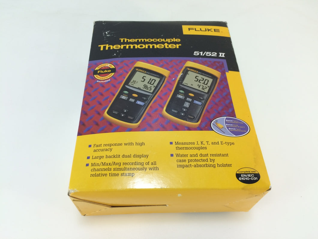 Fluke 51/52 II Thermocouple Digital Thermometer 51-2B