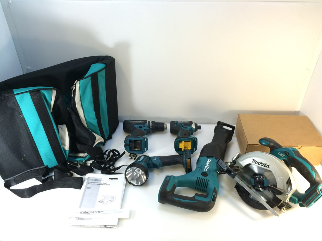 Makita XT505 18-Volt LXT Lithium-Ion Cordless Combo Kit 5-Tool