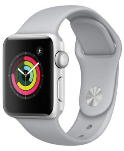 Apple Watch Series 3 38mm Silver Aluminium Case Fog Sport Band (GPS) MQKU2LL/A