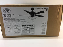 Load image into Gallery viewer, Hampton Bay Sinclair 44 in. LED Indoor Oil-Rubbed Bronze Ceiling Fan AL958-ORB