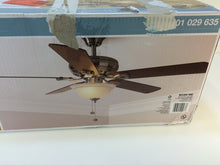 "Load image into Gallery viewer, Hampton Bay 51563 Rothley 52"" Brushed Nickel Ceiling Fan 1001029635"