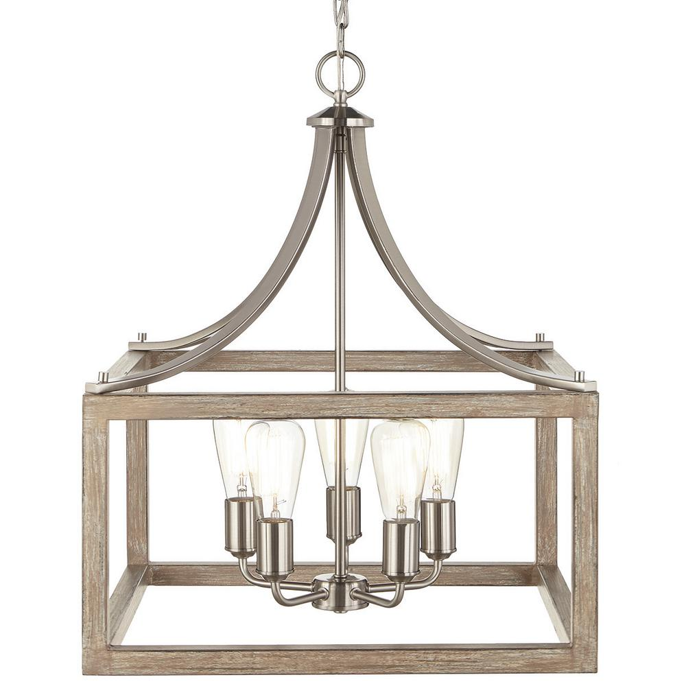 Home Decorators Boswell Quarter 5-Light Brushed Nickel Chandelier 7949HDCDI