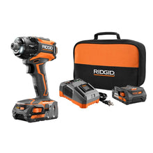 "Load image into Gallery viewer, RIDGID R86036K STEALTH FORCE 18V Hyper Li-Ion 1/4"" Cordless Pulse Driver Kit"