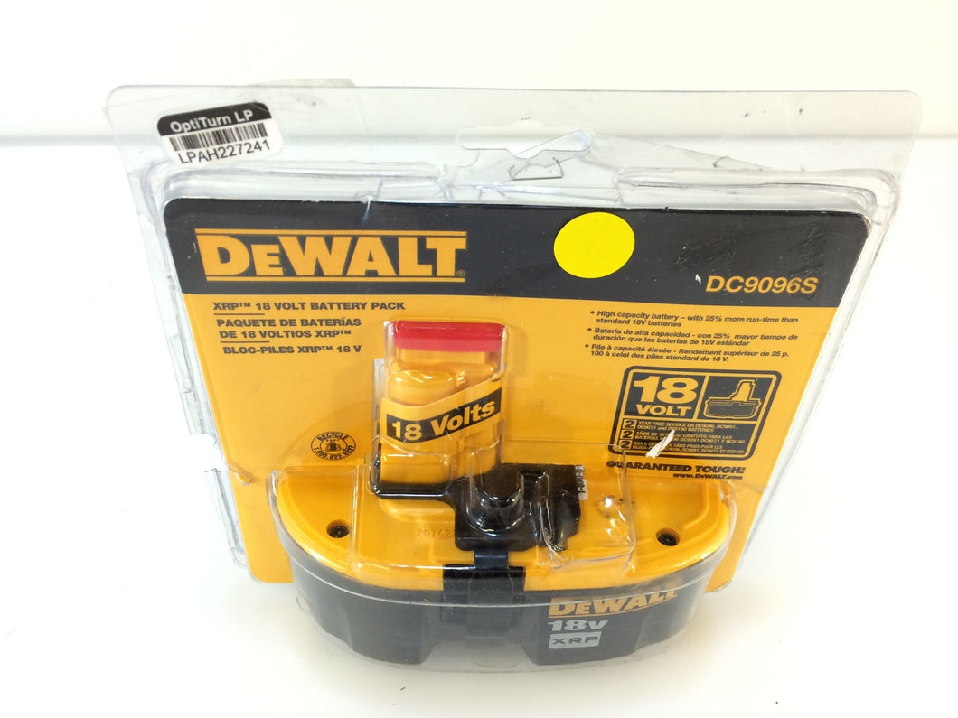 DEWALT DC9096S 18V XRP Ni-Cad Extended Run-Time Rechargeable Battery Pack