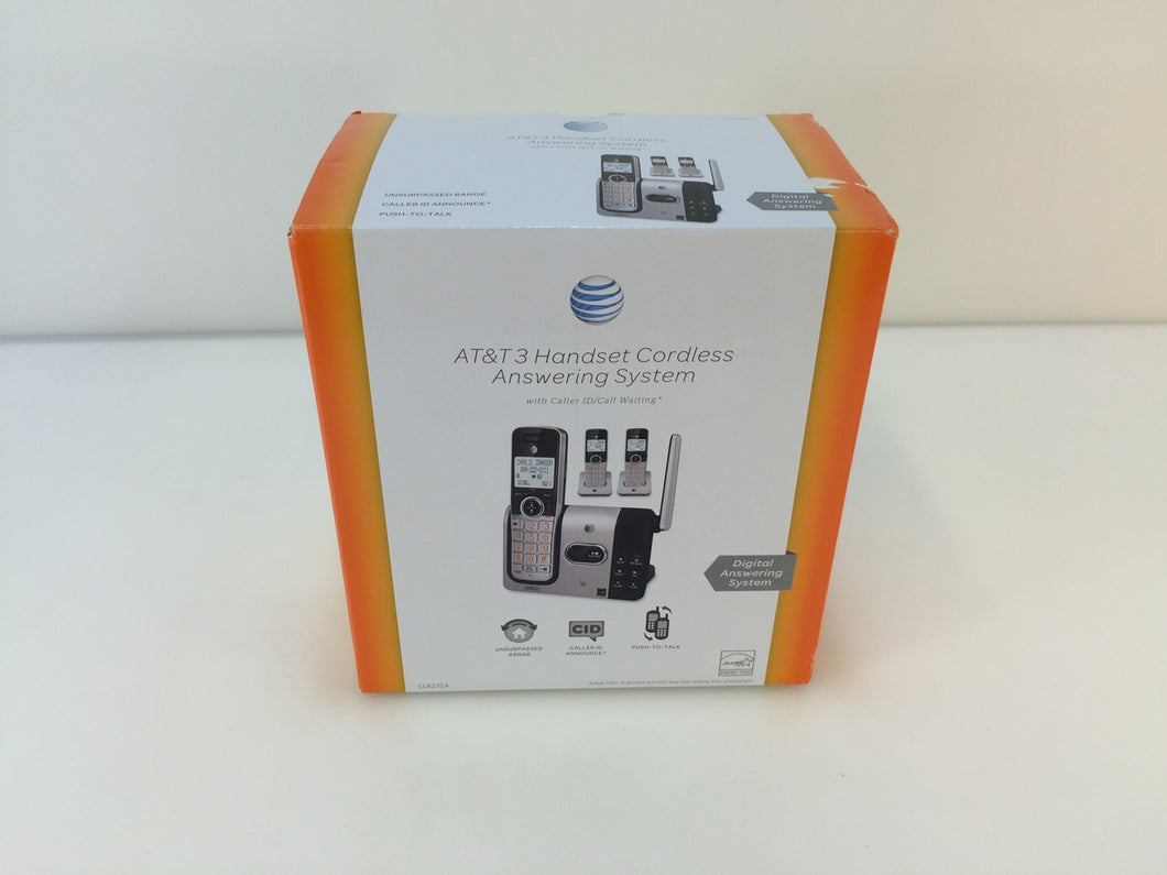 AT&T CL82314 Expandable 3 Cordless Handsets Phone, Answering System CallerID