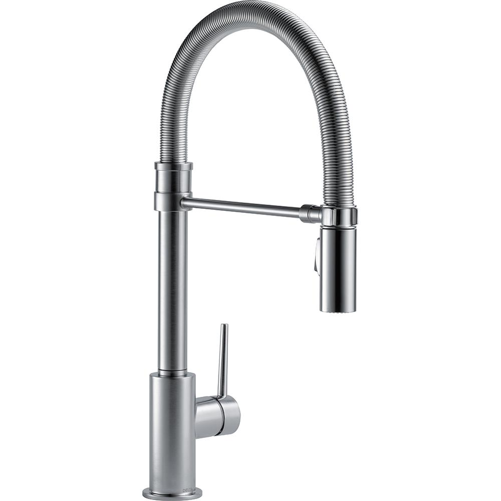 Delta 9659-AR-DST Trinsic Pull-Down Sprayer Kitchen Faucet Arctic Stainless