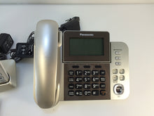 Load image into Gallery viewer, Panasonic KX-TGF353N Dect 6.0 3-Handset Landline Telephone, Champagne Gold