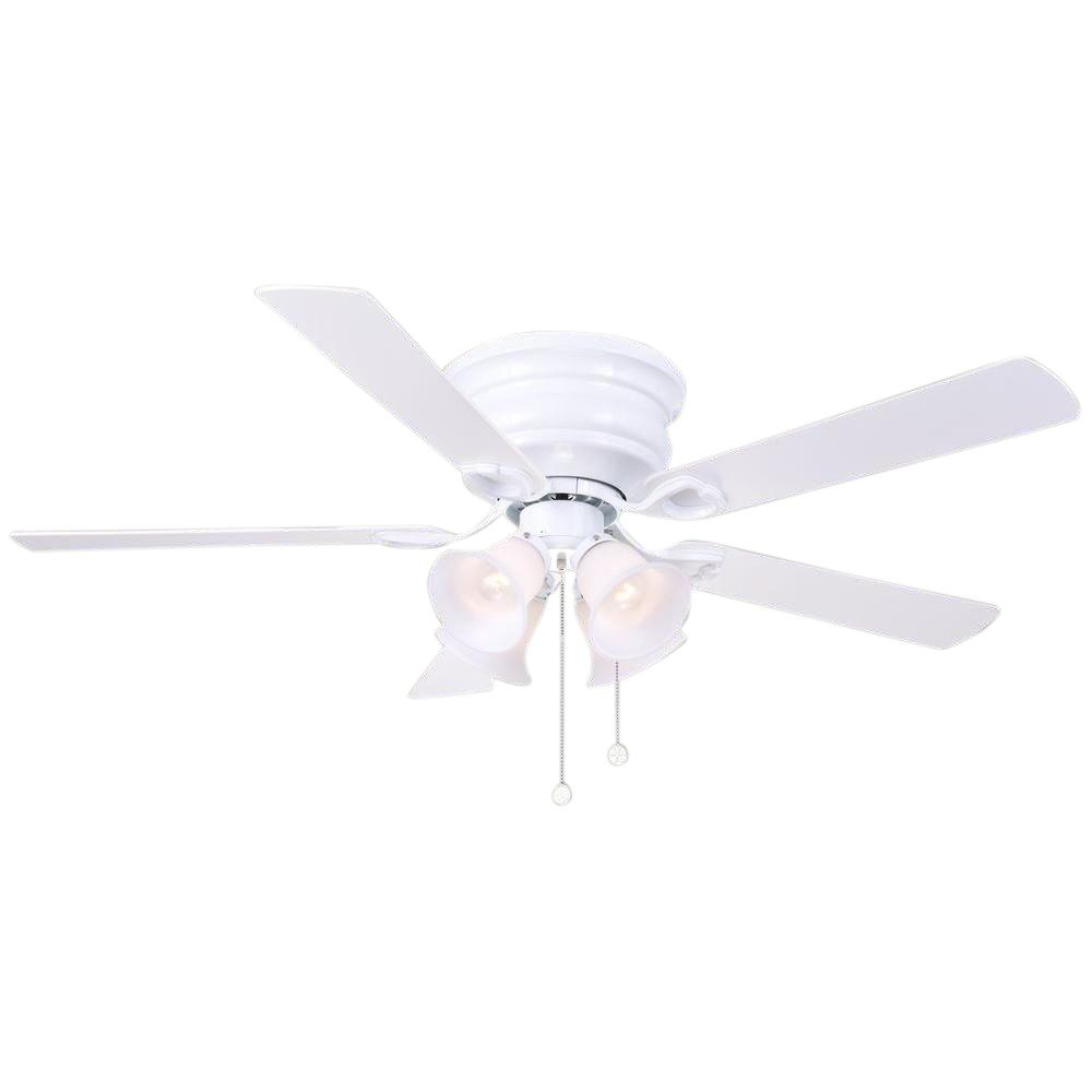 Clarkston 52 in. SW1480WH Indoor White Ceiling Fan with Light Kit 1000997330