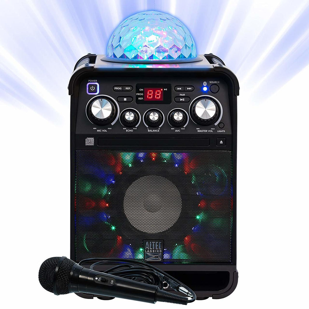 Altec Lansing ALP-K500 Party Star Karaoke System W/ Bluetooth and Effect Lights
