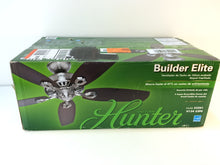 "Load image into Gallery viewer, Hunter Builder 53241 Elite 52"" Indoor Brushed Nickel Ceiling Fan"