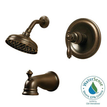 Load image into Gallery viewer, Pegasus 874W-1296H Estates 1-Handle 1-Spray Shower Faucet Heritage Bronze