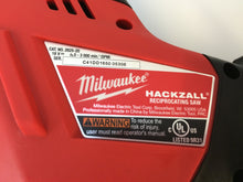 Load image into Gallery viewer, Milwaukee 2625-20 M18 18V Li-Ion Cordless Hackzall Reciprocating Saw Tool-Only