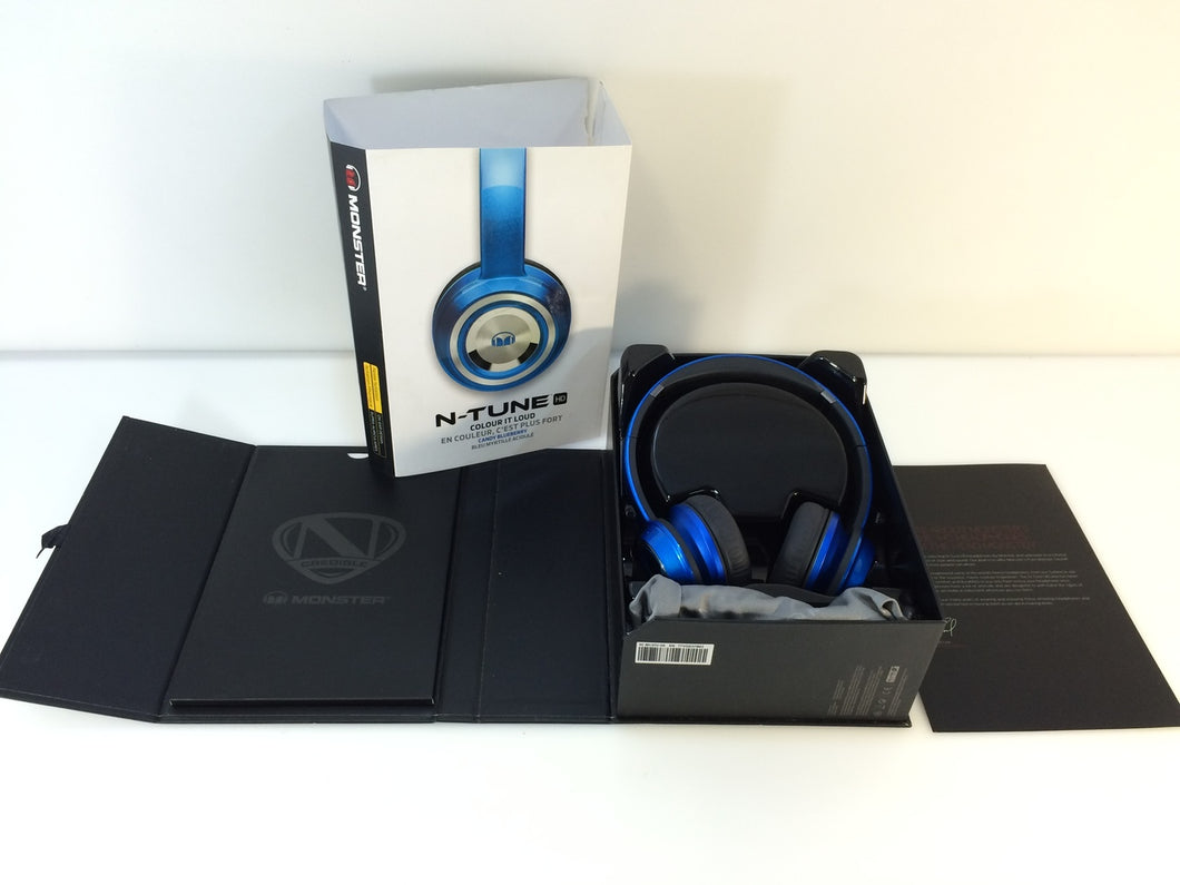 Monster 128521-00 NTune On-Ear Headphones, Candy Blue