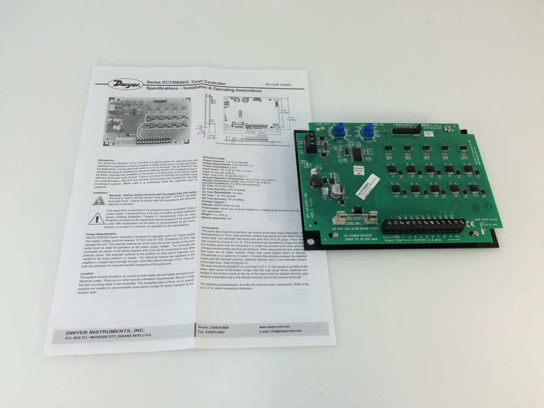 Dwyer Series DCT500ADC Low Cost Timer Controller, 10 Channel