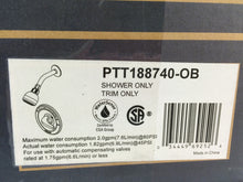 Load image into Gallery viewer, Peerless PTT188740-OB Single-Handle Shower Faucet Trim Kit, Oil Rubbed Bronze
