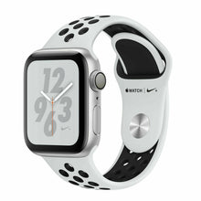 Load image into Gallery viewer, Apple Watch Series4 Nike+ 40mm MU6H2LL/A Silver Aluminum Case Platium Black Band