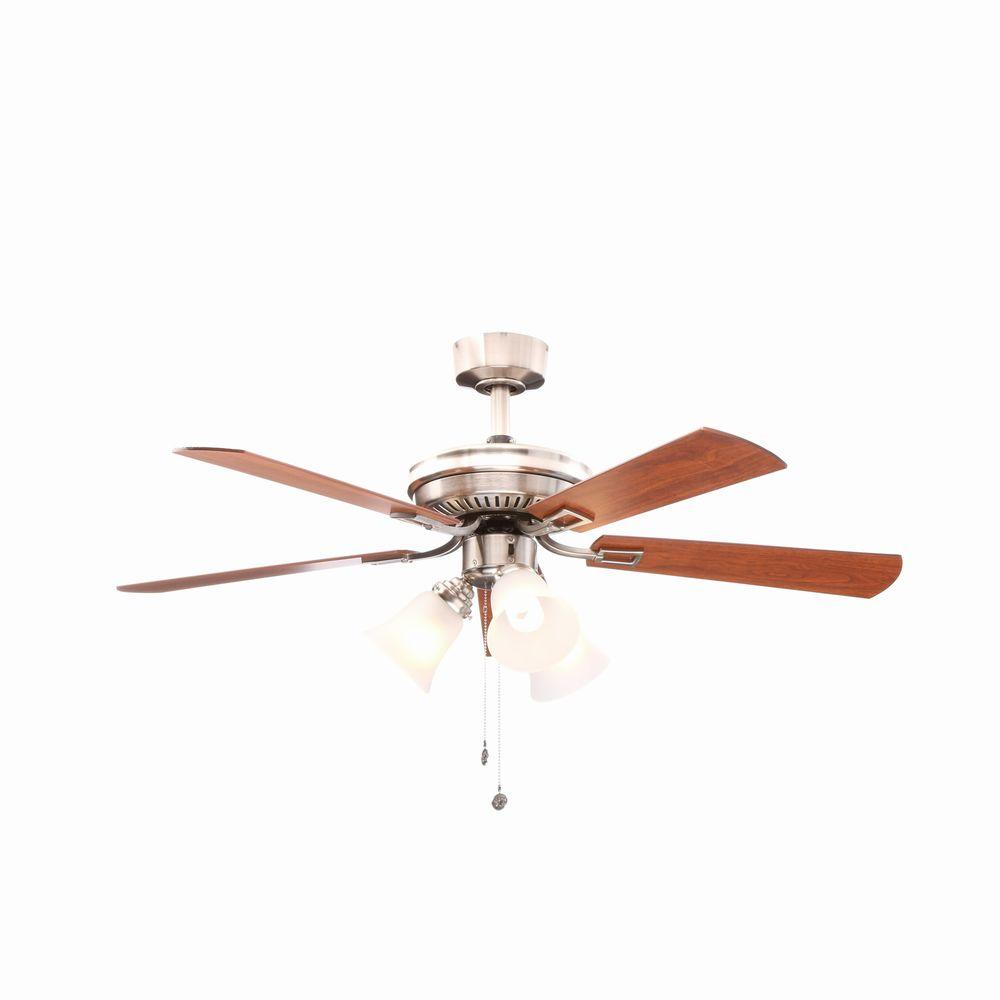 Hampton Bay AL958-BN Sinclair 44 in. Brushed Nickel Ceiling Fan 803548