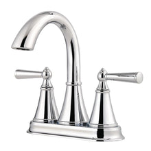 "Load image into Gallery viewer, Pfister LG48-GL0C Saxton 4"" Centerset 2-Handle Bathroom Faucet Polished Chrome"