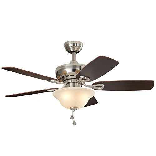 "Harbor Breeze 40840 44"" Sagecove Brushed Nickle Finish Ceiling Fan 0747607"