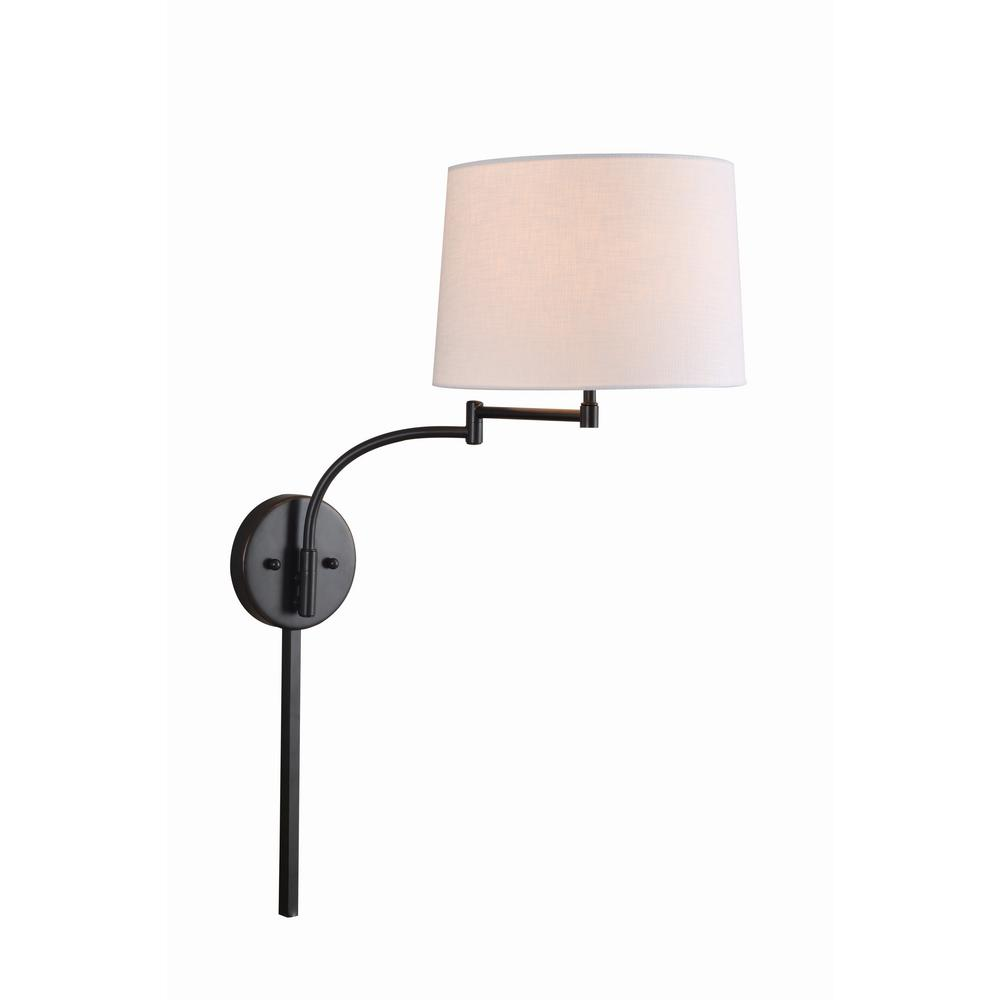 Kenroy Home Seven 1-Light Oil Rubbed Bronze Wall Swing Arm Lamp 33039ORB