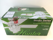 "Load image into Gallery viewer, Hunter 53062 Studio Series 52"" Indoor White Ceiling Fan with Light"