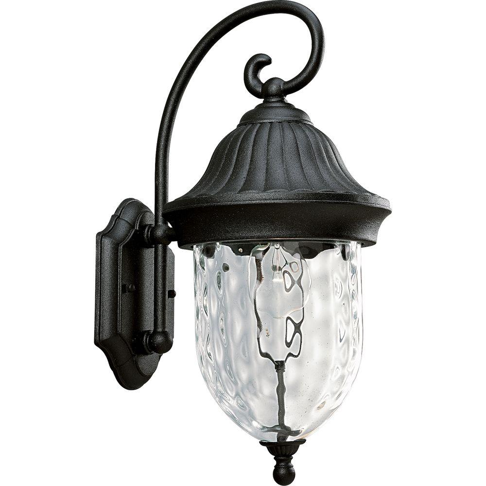 Progress Lighting P5828-31 Coventry Textured Black 1-Light Wall Lantern