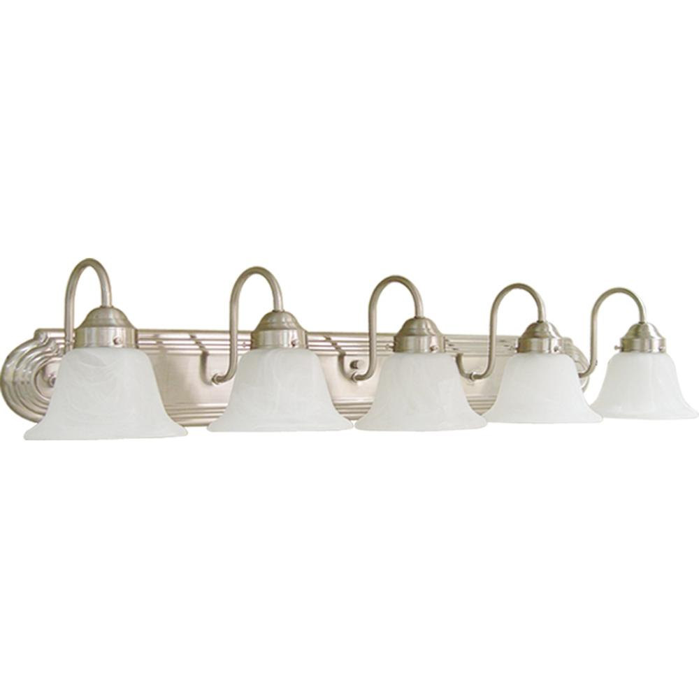 Volume Lighting 5-Light Brushed Nickel Bath Light V1345-33