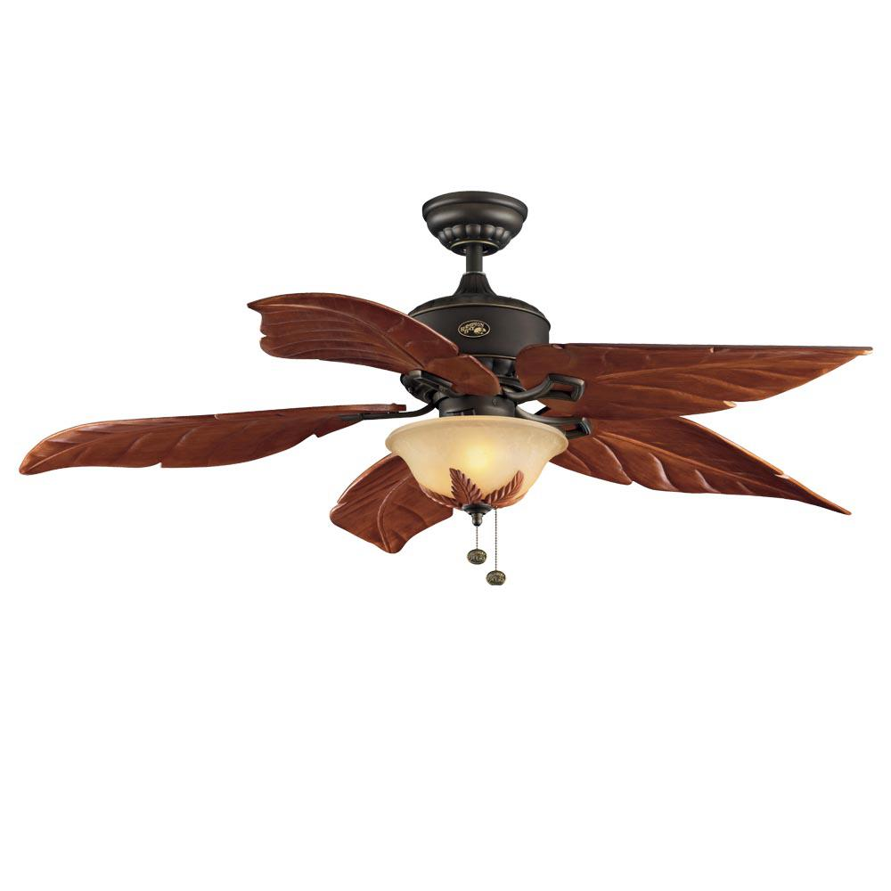 Hampton Bay Antigua Plus 56 in. LED Indoor Oil Rubbed Bronze Ceiling Fan 91140