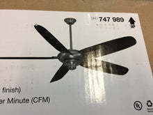 "Load image into Gallery viewer, Home Decorators 99969 Altura 68"" Indoor Brushed Nickel Ceiling Fan 747989"