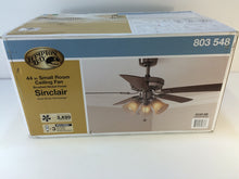 Load image into Gallery viewer, Hampton Bay AL958-BN Sinclair 44 in. Brushed Nickel Ceiling Fan 803548