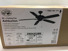 Load image into Gallery viewer, Hampton Bay Ashburton 60 in. Indoor Espresso Bronze Ceiling Fan YG593-EB