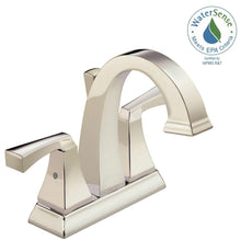 "Load image into Gallery viewer, Delta 2551-PNMPU-DST Dryden 4"" Centerset 2-Handle Bath Faucet Polished Nickel"