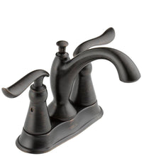 "Load image into Gallery viewer, Delta 2594-RBMPU-DST Linden 4"" Centerset 2-Handle Bath Faucet Venetian Bronze"