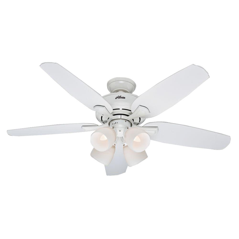Hunter 52072 Channing 52 in. Indoor White Ceiling Fan with Light Kit